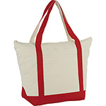 - 12 oz. Zippered Cotton Canvas Tote
