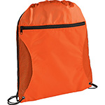 Drawstring Backpacks - Zippered Side Mesh Drawstring Sportspack