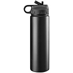 Sports Bottles - Trekk™ Double Walled Stainless Drink Bottle - Black