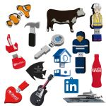 Custom Shape PVC  - 2D Custom Shape USB Flash Drive