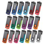 USB Flash Drives - Rotate Black Clip Flash Drive
