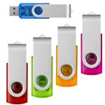 USB Flash Drives - Rotate Transparent Flash Drive